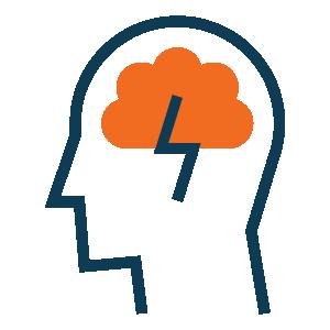 Student thinking icon